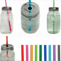 The Country Barrel  5 Large Mason Jar Tumbler - You Pick Straw Colors