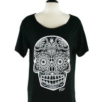 Sugar Skull Soft Slub Top