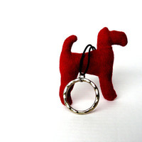 Cherry Red Terrier Keychain by Bartek Design