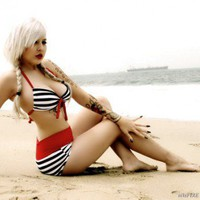 Miss Sailor Girl Swimsuit by GlamfoxxCouture on Sense of Fashion