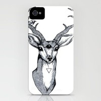 Mystic stag iPhone Case by Rachel Urquhart | Society6