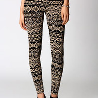 Jade Aztec Print Leggings