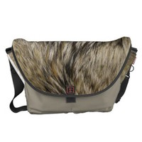 Coyote Fur Messenger Bag from Zazzle.com