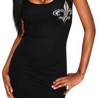 Saint (Black/White)-Great Glam is the web&#x27;s top online shop for trendy clubbin styles, fashionable party dress and bar wear, super hot clubbing clothing, stylish going out shirt, partying clothes, super cute and sexy club fashions, halter and tube tops, b