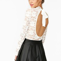 Tied Lace Top