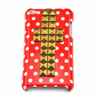 iPod touch 4 hand Case Cover with cross bronze pyramoid stud for apple ipod touch 4 hard Case, ipod touch 4 case  c 8