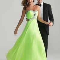 2013 Elegant Sweetheart Evening Dresses Beaded Long Chiffon Formal Prom Gown