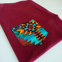 Patchwork Apparel — Navajo Pocket Tee Unisex