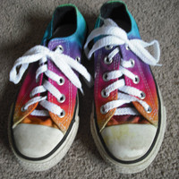Tie dye Converse Kids All Star Shoes- upcycled