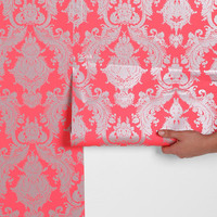 Damsel Removable Wallpaper - Coral- Coral One