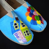 Custom Hand Painted Shoes  Up by RyTee on Etsy