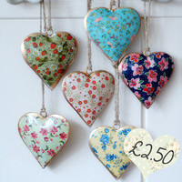 Ditsy Hearts  Dear Blackbird Homewares