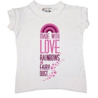 Amazon.com: Dirty Fingers - Made with Love, Rainbows and Fairy dust - Baby & Toddler Little Rocker Style T-shirt: Clothing