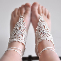 Pattern - Barefoot Crochet Sandals .. on Luulla