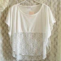 Loose Blouse With Lace by Tulita on Zibbet
