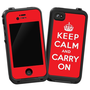 Keep Calm and Carry On &quot;Protective Decal Skin&quot; for LifeProof 4/4S Case