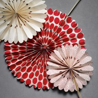 Crinkled Wheel Set (12) in  Explore Material Love Pattern It Red at BHLDN