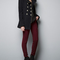 VELVETEEN MILITARY 3/4 LENGTH COAT - Blazers - Woman - ZARA United States