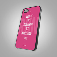 Nike Jus Do It Logo - Quotes -  KCTB016 - Design on Hard Cover - iPhone 4 / 4S Case, iPhone 5 Case