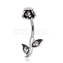 316L Surgical Steel In-N-Out Rose Belly Rings
