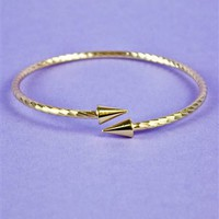 Thin Two Arrow Bangle- Fashion Jewelry - $34