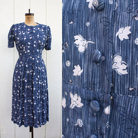 bluebells all in a row // 1940s style blue by lostboysandlovers