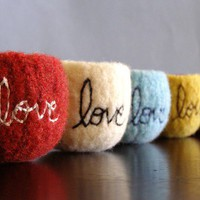 choose your colors custom tiny felted wool bowl by thefuzzymonkey