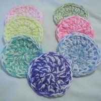 Handmade Crochet Scrubbies/Scrubbers - Set of 7 - Mixed Colors