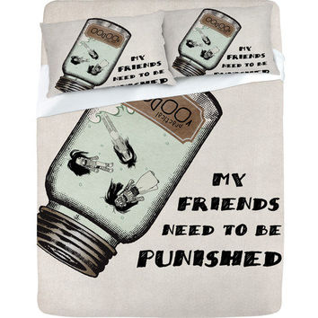 DENY Designs Home Accessories | Belle13 My Friends Need To Be Punished Sheet Set
