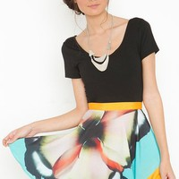 X Ray Floral Skirt in  What's New at Nasty Gal