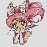Chibi Sailor Moon Cross Stitch Pattern | Los Angeles Needlework