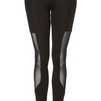 Mesh Panel Leggings - Pants  Leggings  - Apparel  - Topshop USA