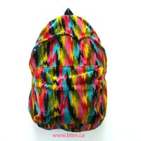 Rainbow Corduroy Ikat Backpack by Blim