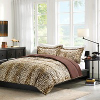 JLA Basic Cheetah Occelot Softspun Down Alternative Comforter Mini-Set