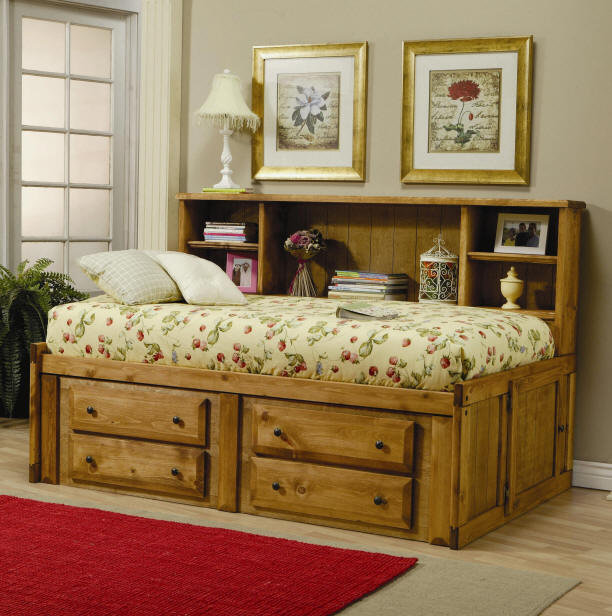 Black Mountain Big Bookcase Captain&#x27;s Bed