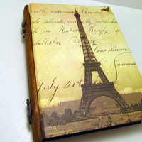 Paris Book Box by DeweysNook on Etsy