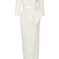 Halston Heritage Embellished tulle wrap dress - 50% Off Now at THE OUTNET