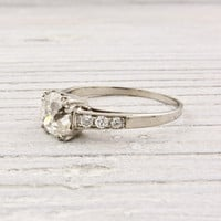 .97 Carat Old Mine Cushion Cut Diamond Antique Engagement Ring | Shop | Erstwhile Jewelry Co.