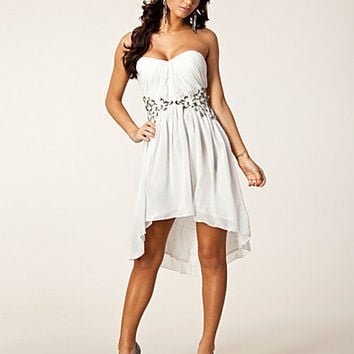 Pleat Waist Trim Dress, Little Mistress