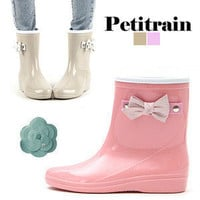 Rain boots 2012 vivi bow boots female fashion short rainboots water shoes-in Boots from Shoes on Aliexpress.com