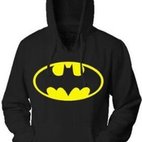 Amazon.com: Batman Classic Logo Black Adult Hoodie Sweatshirt: Clothing