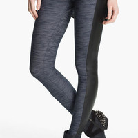 Lush Faux Leather Trim Tux Leggings (Juniors) | Nordstrom