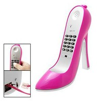 Amazon.com: Amaranth Super High-Heel Stiletto Shoe Corded Telephone, Pink: Electronics