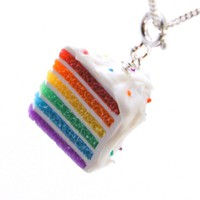 Rainbow Cake Necklace - Whimsical & Unique Gift Ideas for the Coolest Gift Givers