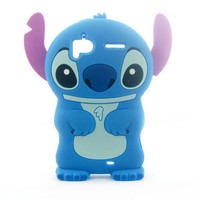 Blue Stitch 3D Silicone Back Cover Case For HTC Sensation 4G Z710E G14