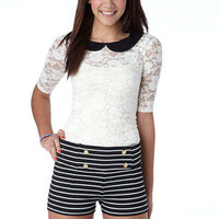 Striped Sailor Knit Short