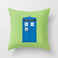 DOCTOR WHO. Throw Pillow by John Medbury (LAZY J Studios) | Society6