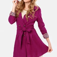 Day By Dainty Fuchsia Coat