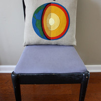 Science Diagram Pillow - Earth Cross Section