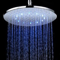 7 Colors Changing LED Contemporary Chrome Shower Faucet Head of 12 inch:Amazon:Home Improvement